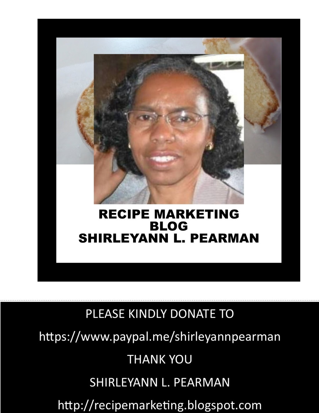 Recipe Marketing BLOG donate ad